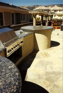 landscape architect designed outdoor kitchen