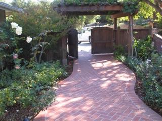 Custom designed brick paver walkway