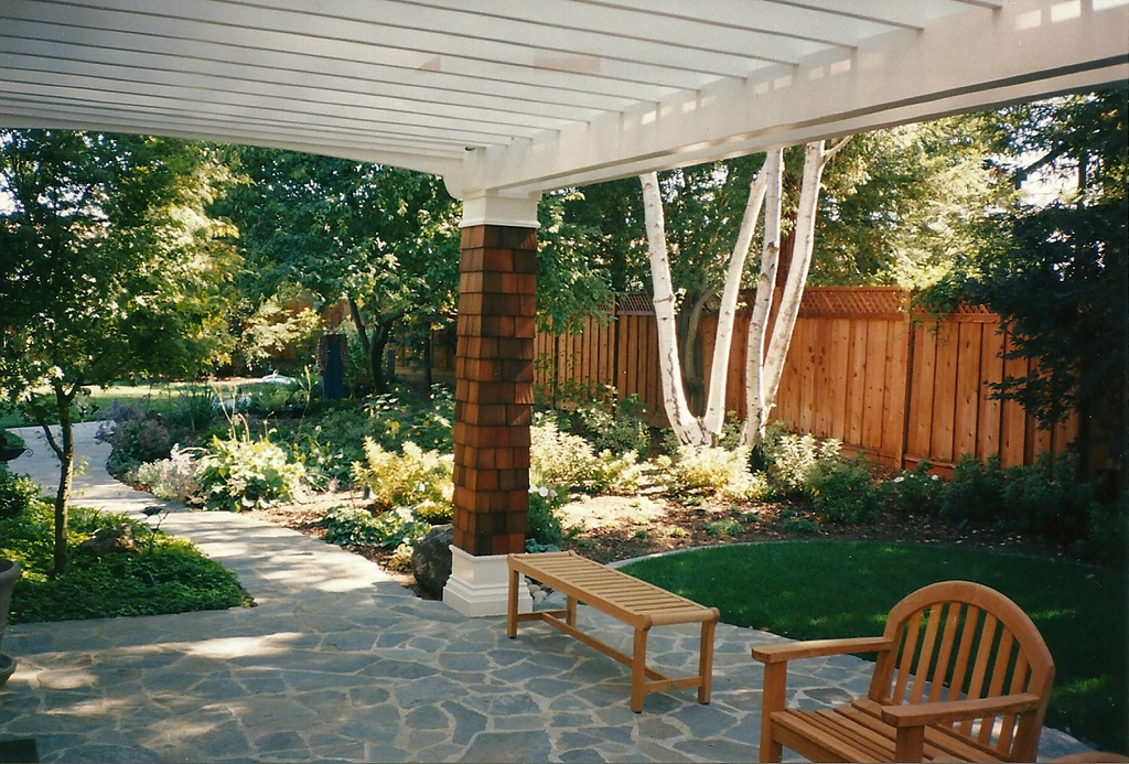 Trellises decks arbors patios 2 for Deck trellis