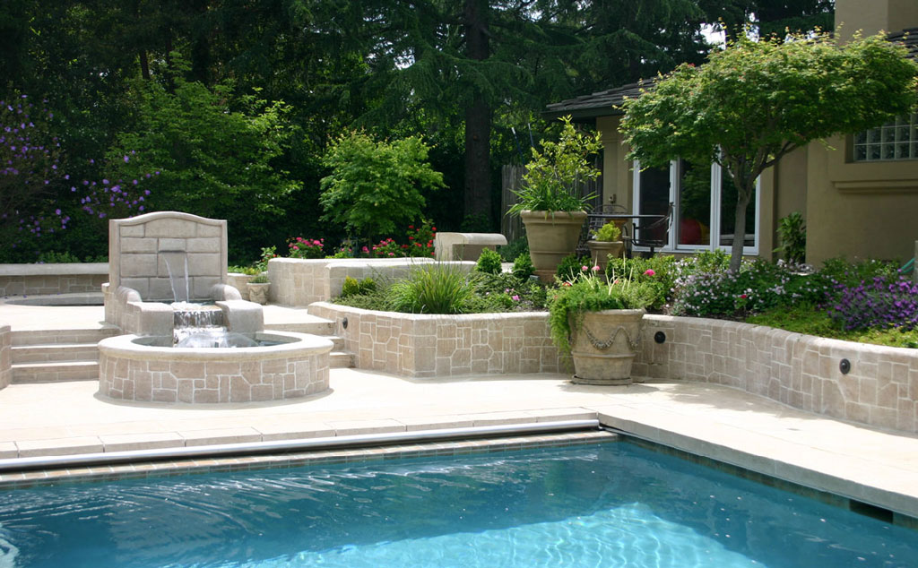 Pools spas water features 1 for Garden pool fountains